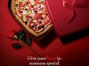 Boston Pizza Valentine\'s Day Heart Shape Pizza
