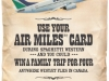 Boston Pizza Westjet AIRMILES campaign